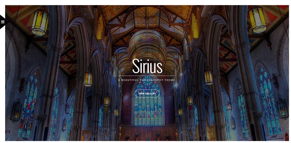 Sirius Responsive Portfolio Photography Theme