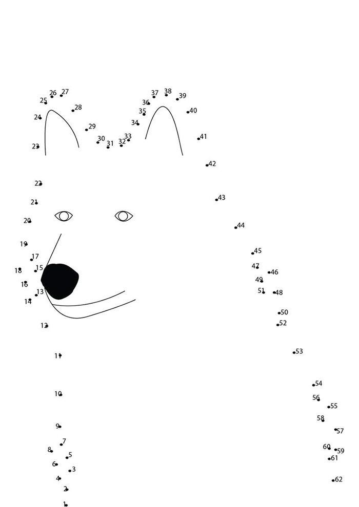 sitting wolf dot to dot