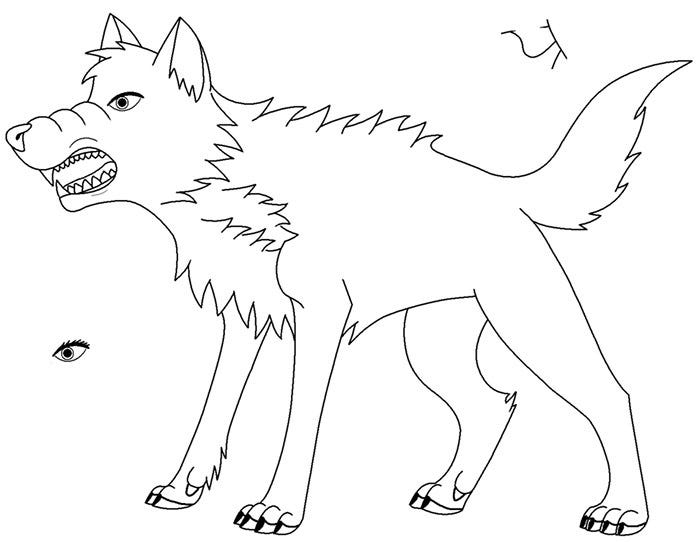 snarling wolf template
