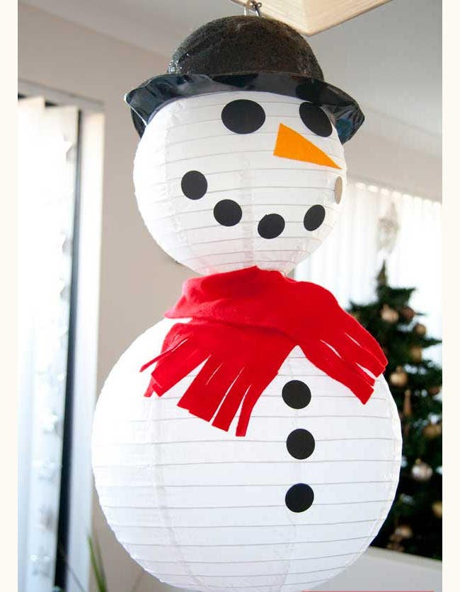 snowmen craft template