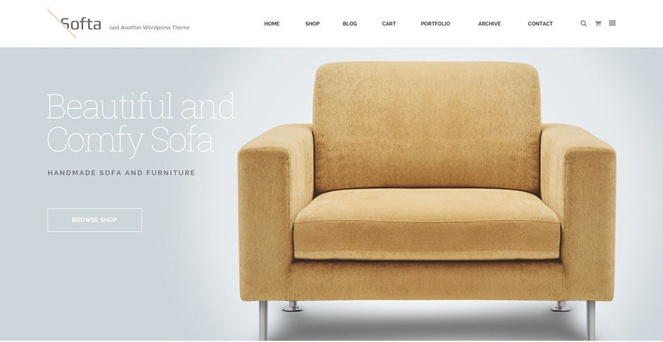 soffa furniture bussiness wordpress theme