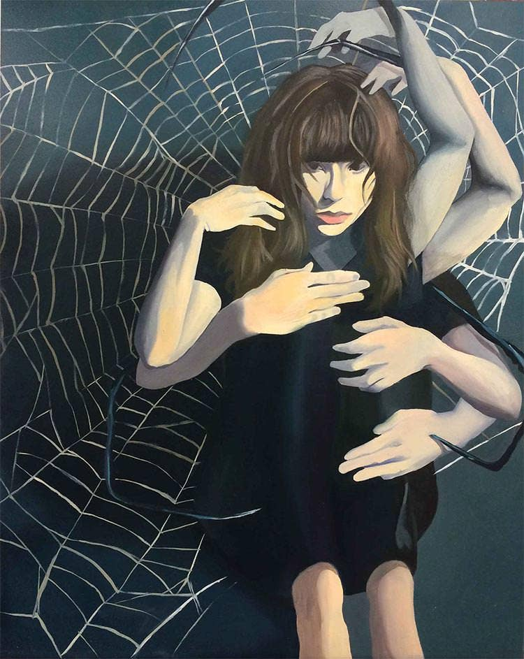 spider metamorphosis painting