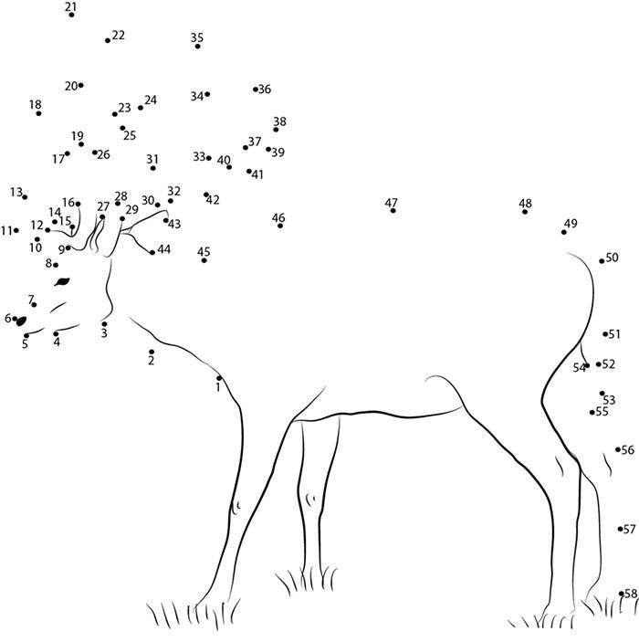 standing deer dot to dot
