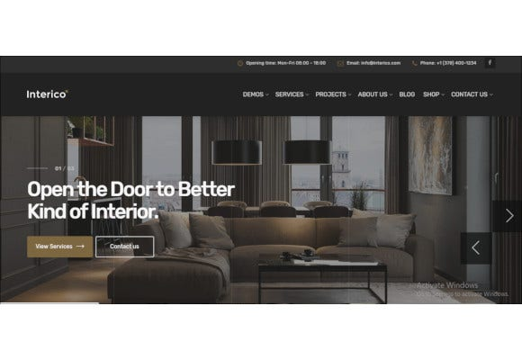stylish interior design architecture wordpress theme