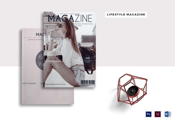 stylish lifestyle catalog template in word format