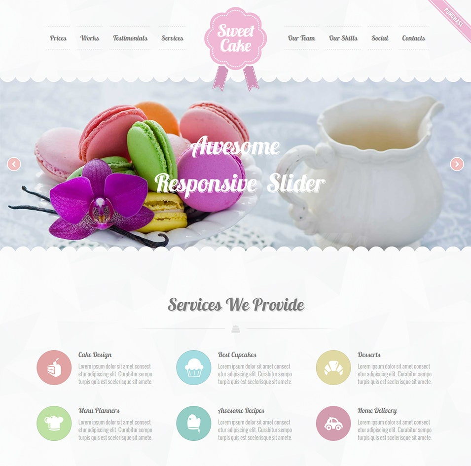 sweet cake responsive wordpress theme