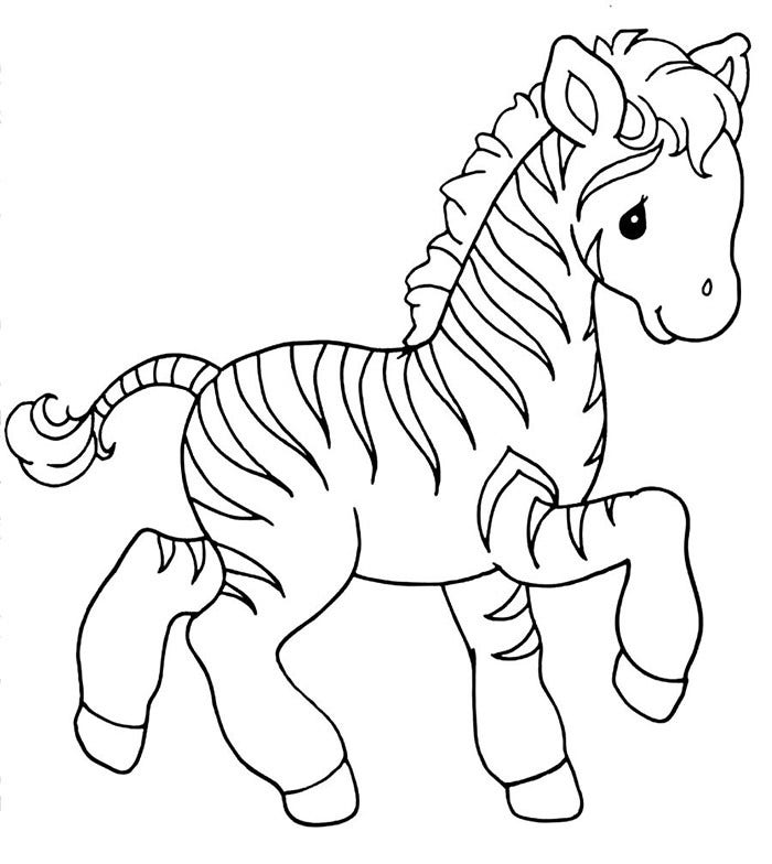 sweet little zebra precious moment coloring page