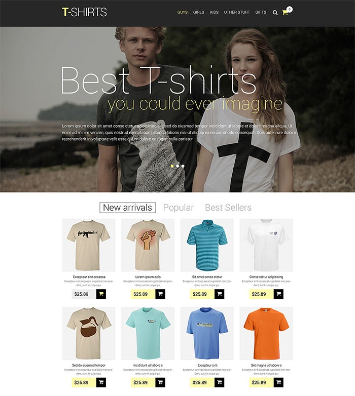 t shirt shop responsive prestashop theme