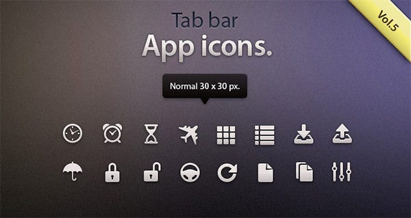 tab bar icons ios 5
