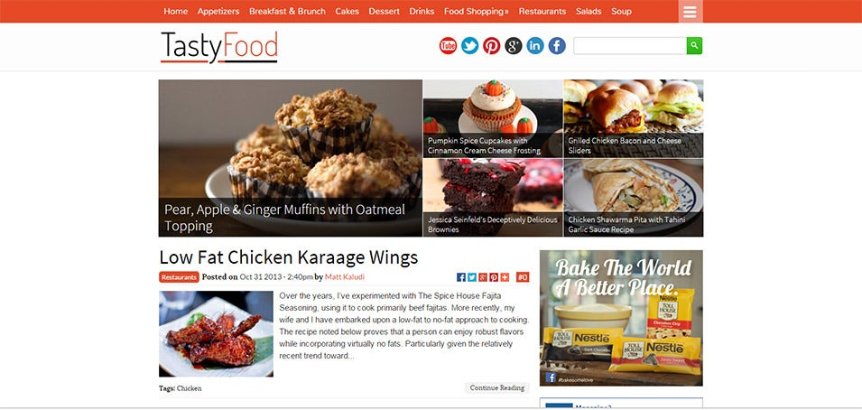 30 best food wordpress themes templates free premium templates food blogging lifestyle wordpress theme 59 tastyfood free demo download forumfinder Choice Image
