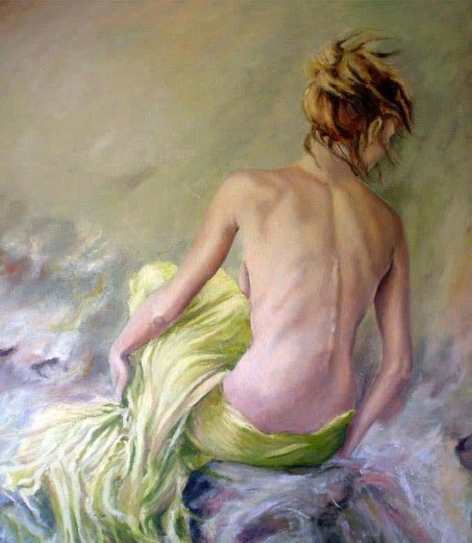 the calm figurative art painting
