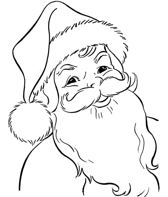 the old happy santa coloring page
