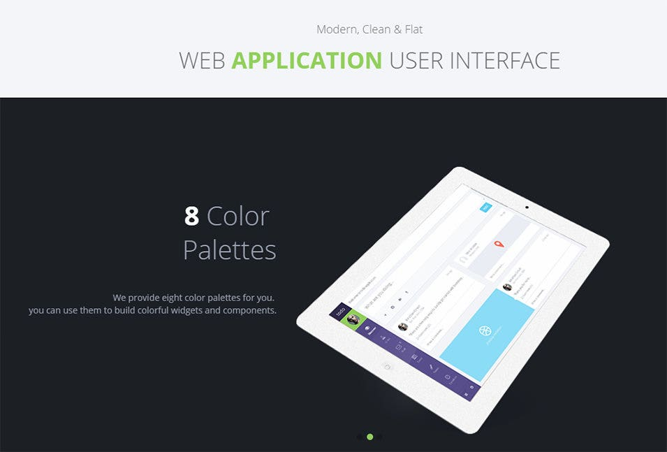 php web application template