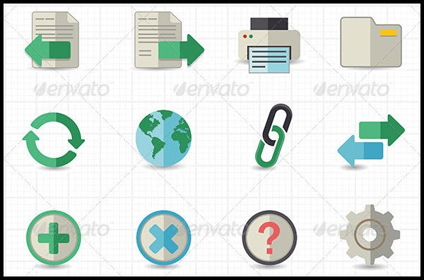 toolbar website icons