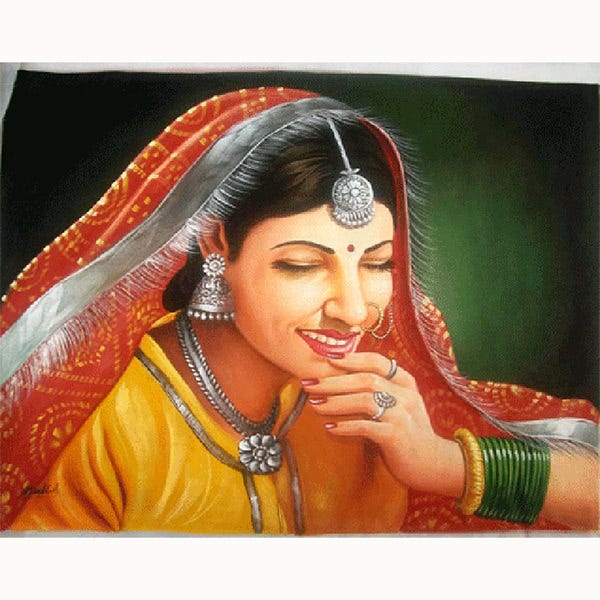 traditional woman painting