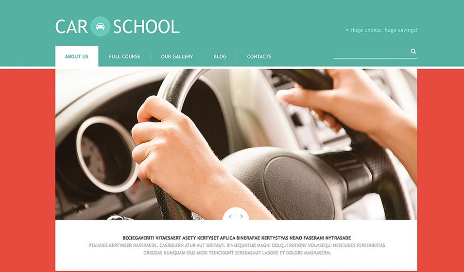 Traffic School WordPress Theme