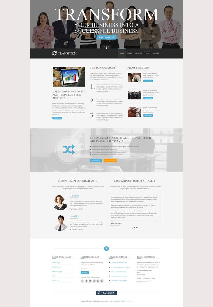 Transform Premium Website Template