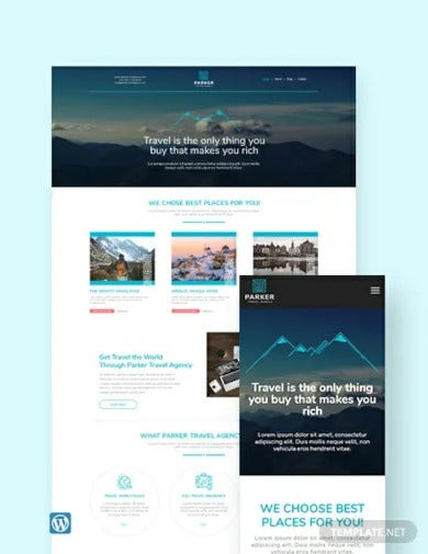 travel agency wordpress theme template