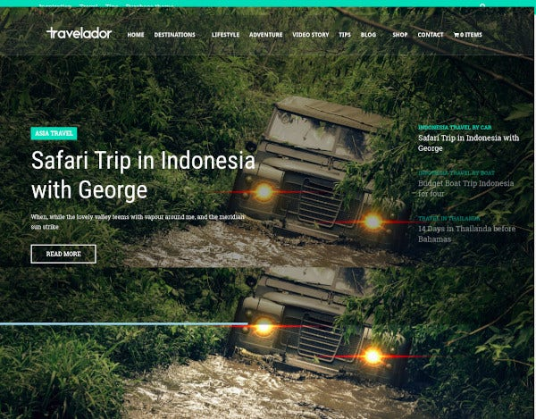 travelador wordpress blog travel
