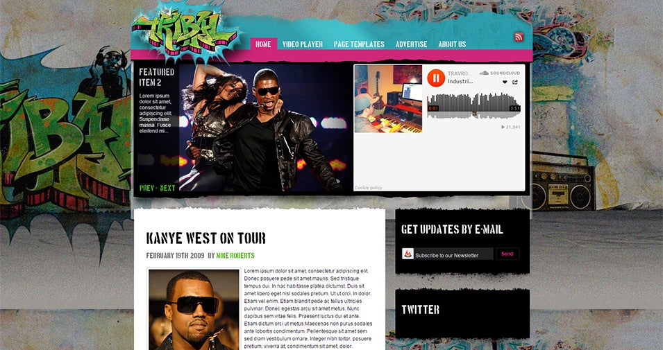 Tribal Music Theme WordPress Theme