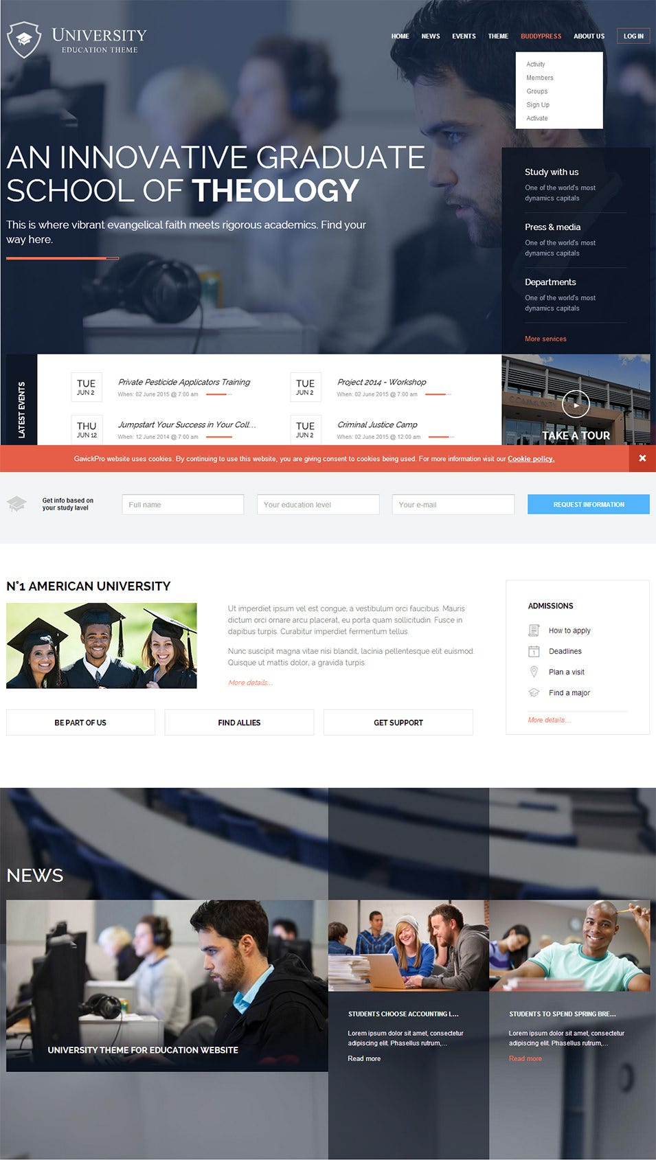 university wordpress theme for schools and colleges1