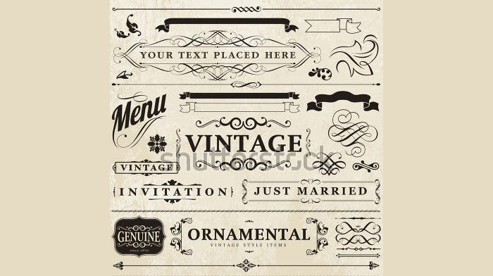 Vector vintage style element