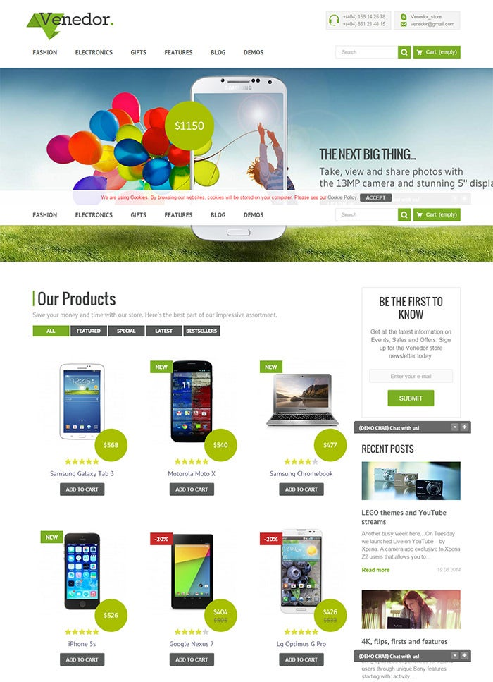 41 responsive prestashop themes templates free for Presta shop templates
