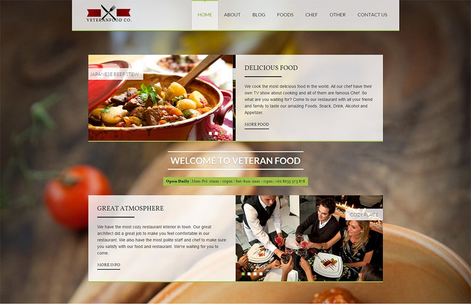 30 best food wordpress themes templates free premium templates veteranfood wordpress theme 49 forumfinder Image collections