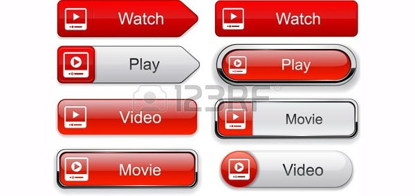 Video web buttons for website or app