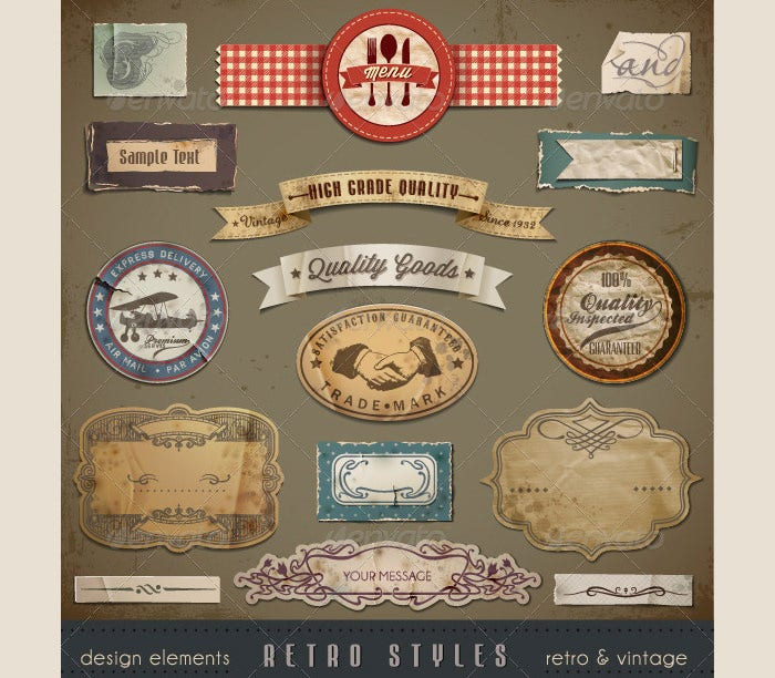 vintage and retro design elements1