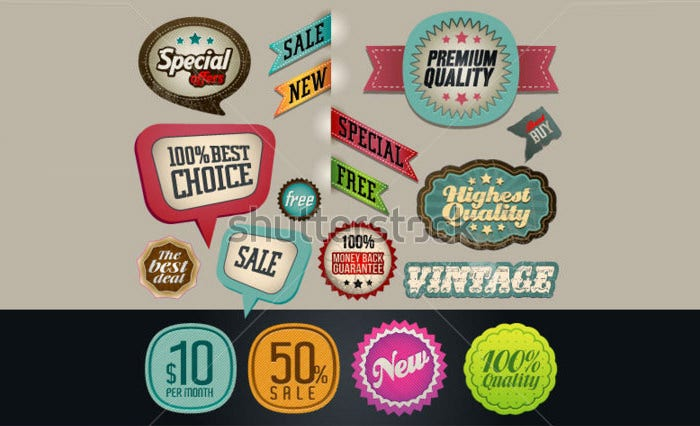 Vintage And Retro Design Vector Elements