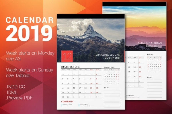 24  best editable calendar templates  u0026 2019 designs