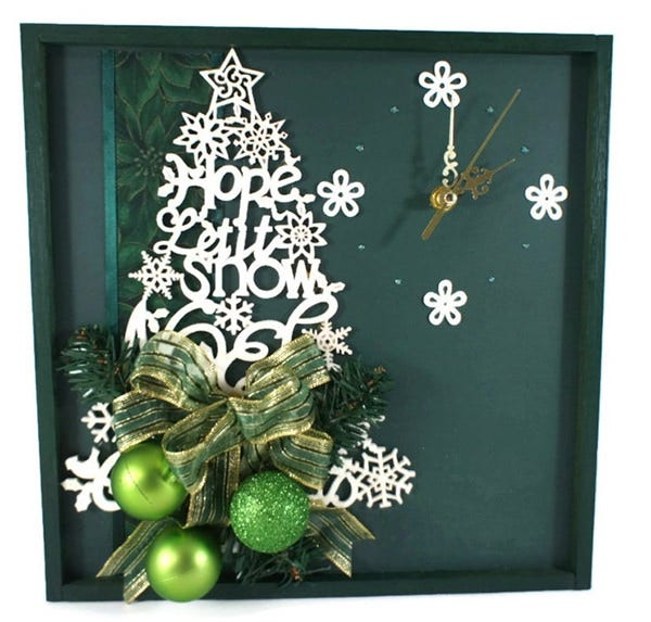 wall clock christmas decoration