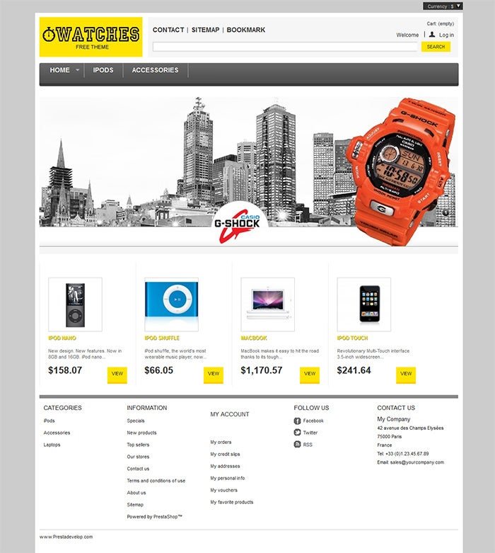 watches prestashop theme