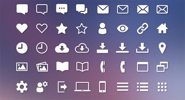 web interface icon set