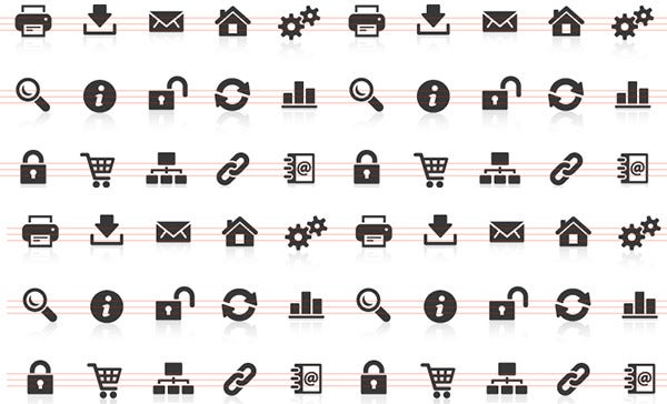 web icons and internet icons