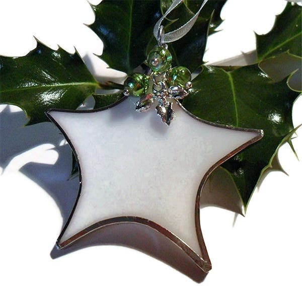 white green christmas tree decoration