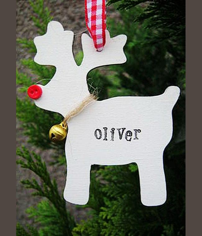 white reindeer paper christmas craft