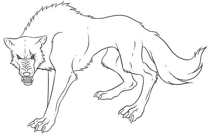 wolf template to print