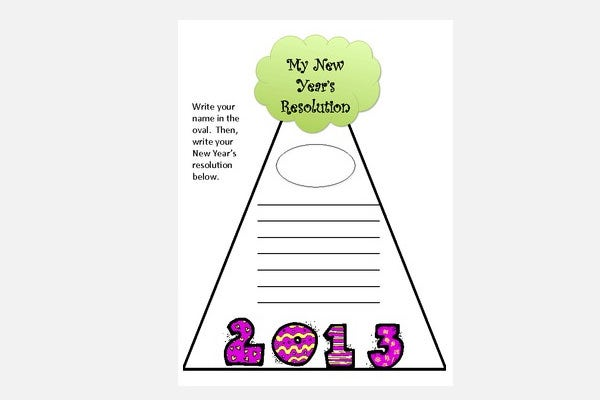 writing activity new years resolution unit