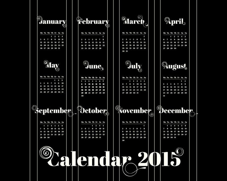 yearly calendar templates to download