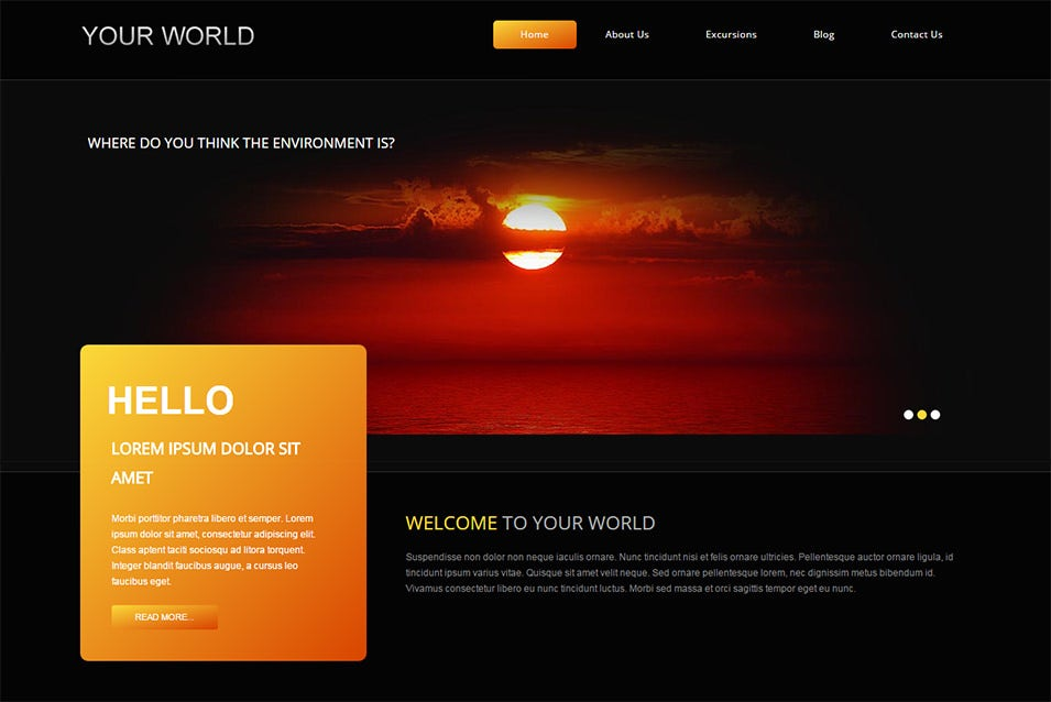 ypur world joomla bootstrapped template