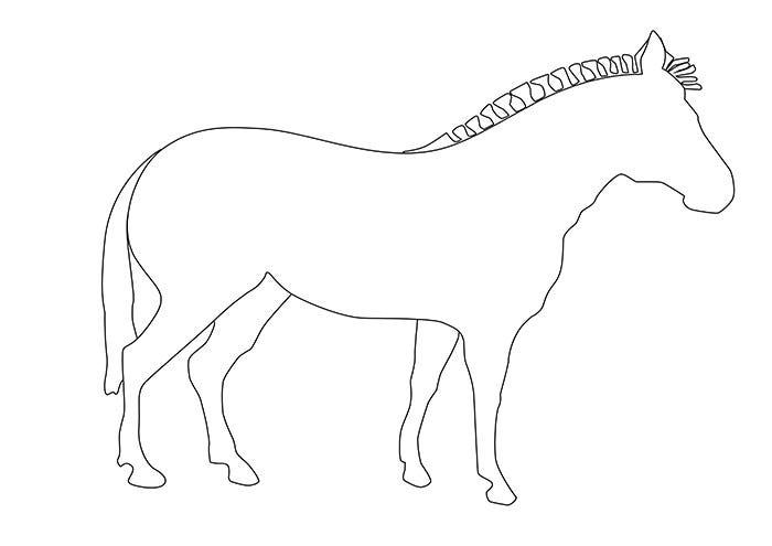 zebra outline template