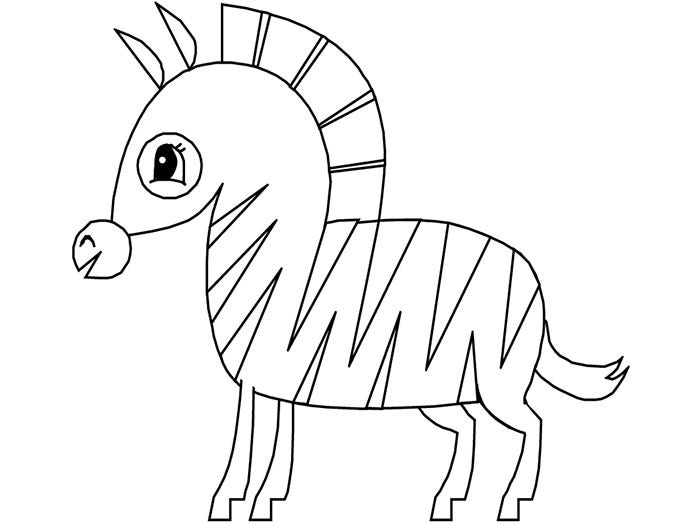 zebra template for kids