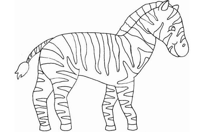 zeebra mask coloring page