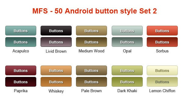 android custom button style