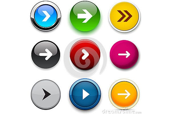 arrow color round buttons