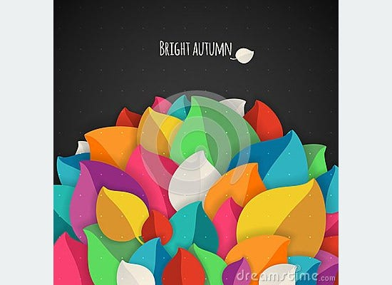 autumn abstract vector background