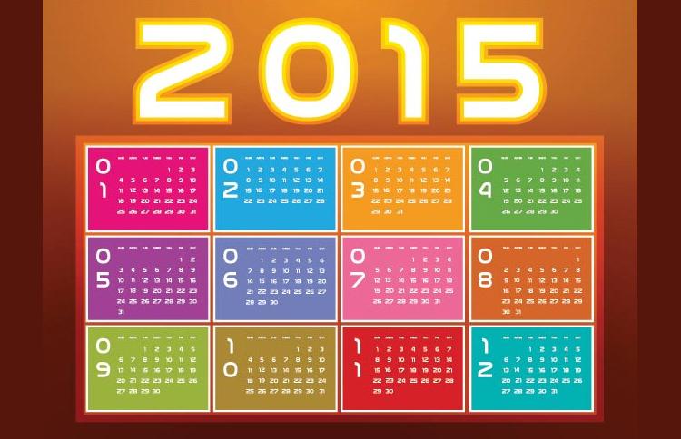 calendar block vector