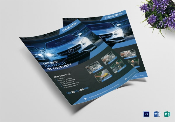 car wash flyer 33 free psd eps indesign format download free